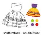 coloring book for children.... | Shutterstock .eps vector #1285834030