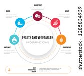 abstract infographics of fruits ... | Shutterstock .eps vector #1285834939