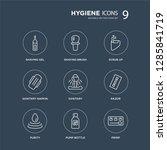 9 shaving gel  shaving brush ... | Shutterstock .eps vector #1285841719