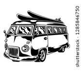 vintage graphic old school car... | Shutterstock .eps vector #1285846750