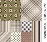 set seamless geometric patterns ... | Shutterstock .eps vector #1285847290