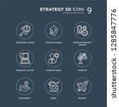 9 strategic vision  startup... | Shutterstock .eps vector #1285847776