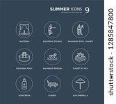 9 waterski  swimming trunks ... | Shutterstock .eps vector #1285847800