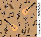 music seamless pattern vector ... | Shutterstock .eps vector #1285854646