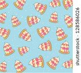 pattern cupcake vector | Shutterstock .eps vector #128586026