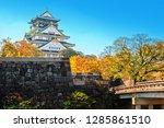 osaka castle in osaka city with ... | Shutterstock . vector #1285861510