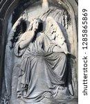 marble sculptures of angels | Shutterstock . vector #1285865869