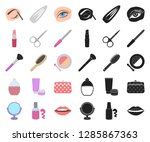 makeup and cosmetics cartoon...   Shutterstock .eps vector #1285867363