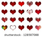 set of various stylish hearts... | Shutterstock . vector #128587088