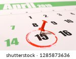 2019 calendar with 1040 income... | Shutterstock . vector #1285873636