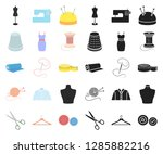 atelier and sewing cartoon...   Shutterstock .eps vector #1285882216