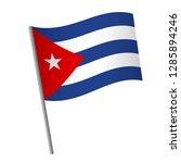 cuba flag icon. national flag... | Shutterstock .eps vector #1285894246