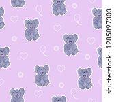cute elephant seamless pattern | Shutterstock . vector #1285897303
