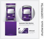atm automatic teller machine... | Shutterstock .eps vector #1285900756
