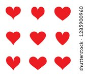 heart icons set isolated on... | Shutterstock .eps vector #1285900960