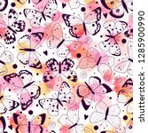 seamless pattern with... | Shutterstock .eps vector #1285900990