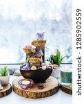relaxing spiritual feng shui... | Shutterstock . vector #1285902559