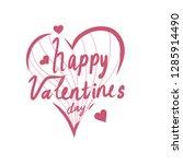 illustration of valentine's day ... | Shutterstock . vector #1285914490