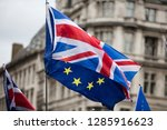 european union and british... | Shutterstock . vector #1285916623