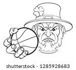 a leprechaun basketball sports...   Shutterstock .eps vector #1285928683
