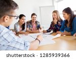 education  architecture and... | Shutterstock . vector #1285939366