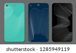 set fashionable abstract... | Shutterstock .eps vector #1285949119