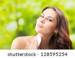 portrait of happy smiling...   Shutterstock . vector #128595254