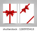 happy birthday to you. bow on... | Shutterstock .eps vector #1285955413