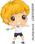 illustration of a kid boy...   Shutterstock .eps vector #1285958509