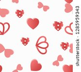 cute romantic seamless pattern  ... | Shutterstock .eps vector #1285959343