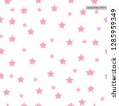 seamless pattern with stars... | Shutterstock .eps vector #1285959349