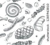 decorative seamless pattern... | Shutterstock .eps vector #1285963810