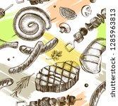 decorative seamless pattern... | Shutterstock .eps vector #1285963813