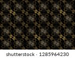 vintage seamless pattern on a... | Shutterstock . vector #1285964230