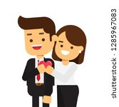 couple on white background...   Shutterstock .eps vector #1285967083