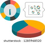 vector graphics of income   Shutterstock .eps vector #1285968520