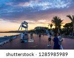 nice  france   june 23 2016 ...   Shutterstock . vector #1285985989