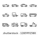 vehicles icon set | Shutterstock .eps vector #1285992580
