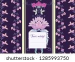 stylized ornamental flowers in... | Shutterstock .eps vector #1285993750
