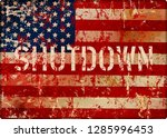 government shutdown symbol with ... | Shutterstock .eps vector #1285996453