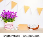 easter background with eggs in... | Shutterstock . vector #1286002306