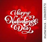 happy valentines day typography ... | Shutterstock .eps vector #1286005573