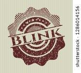 red blink rubber stamp | Shutterstock .eps vector #1286014156