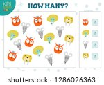 how many animals kids... | Shutterstock .eps vector #1286026363