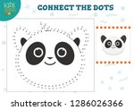 connect the dots kids game... | Shutterstock .eps vector #1286026366