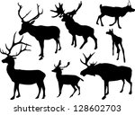 illustration with deer... | Shutterstock .eps vector #128602703