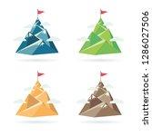 set of flag on the mountain... | Shutterstock .eps vector #1286027506