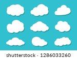 cloud icon set | Shutterstock .eps vector #1286033260