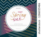 spring sale round banner on... | Shutterstock .eps vector #1286035486