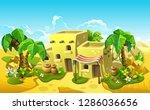 stone houses in the desert.... | Shutterstock .eps vector #1286036656